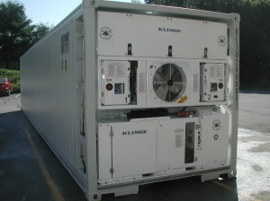 Redundant Refrigerated Container w. Back-up Power Supply Model NMR-262&NMG-115